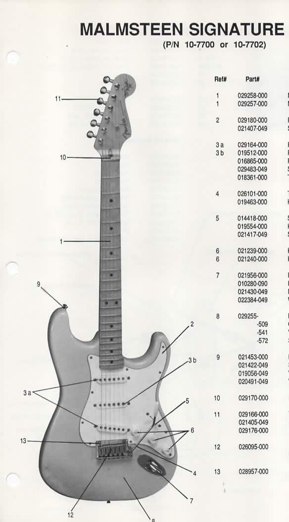 Tremendous Parts List Diagram For Fender Malmsteen Signature Model Stratocaster Wiring Cloud Hisonuggs Outletorg