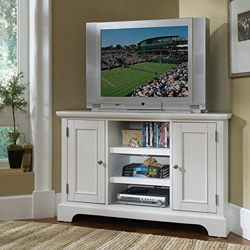 Home Styles 5530-07 Naples Corner Entertainment Credenza, White Finish by Home Styles