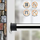 ALLZONE Room Divider Tension Curtain Rod, 84-124inch,No Drilling, Never Collapse, Very Secure, Brushed Stainless Steel
