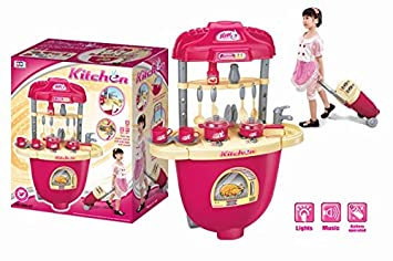 Buy Rk Toys Kitchen Set With Trolley Bag Toy For Kids Online