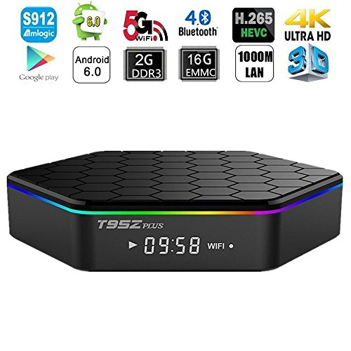 HONGYU T95Z PLUS Android TV BOX, Android 6.0 TV Box with Amlogic S912 Octa core 2GB DDR3 16GB EMMC Support 2.4G/5G Dual Wifi 1000M LAN Bluetooth 4.0 4K 3D OTT TV Media Player -  Shenzhen HongYu Technology Co., Ltd.