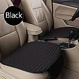 Ocamo Breathable Flax Car Front Seat Cushion Car Interior Seat Cover Cushion Pad for Auto Supplies Black 2pcs