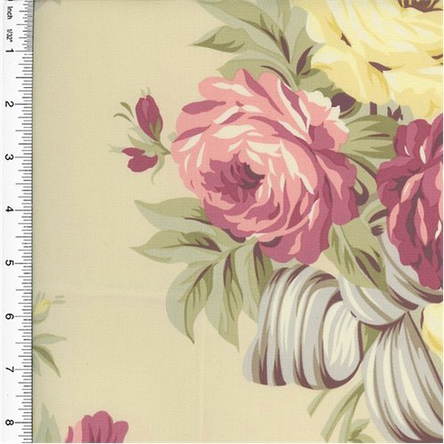 (Designer Cotton Multi Floral Print Decorating Fabric, Fabric By the Yard)