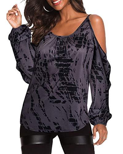 YOINS Sommer Shirt Damen Oberteile Elegant Bluse Damen Sexy Schulterfrei Sommer Kurzshirt Casual T-Shirt