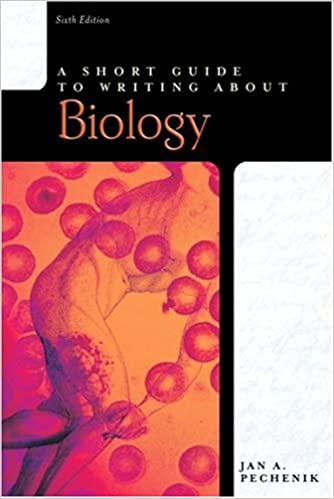 pechenik a short guide to writing about biology scientists