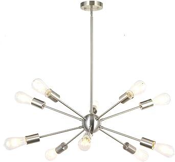 Delphine 6 Light 28 inch Satin Nickel Chandelier Ceiling Light