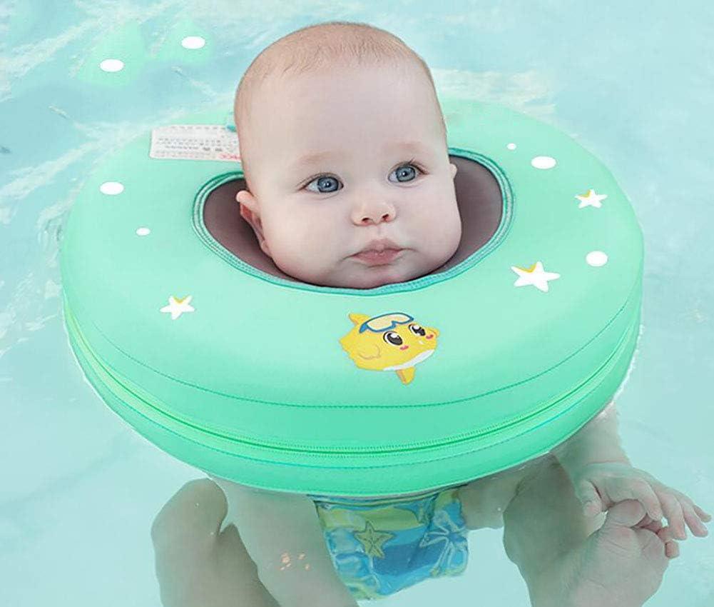 R&P Anillo la Natación del Cuello Bebé,No Necesita Inflable Anillo de flotabilidad Ajustable Mantenga a su bebé Seguro Adecuado para Lactantes de 7 a 12 kg
