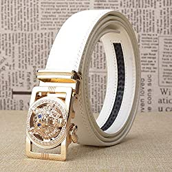 Automatic Buckled Diamond Business Belt