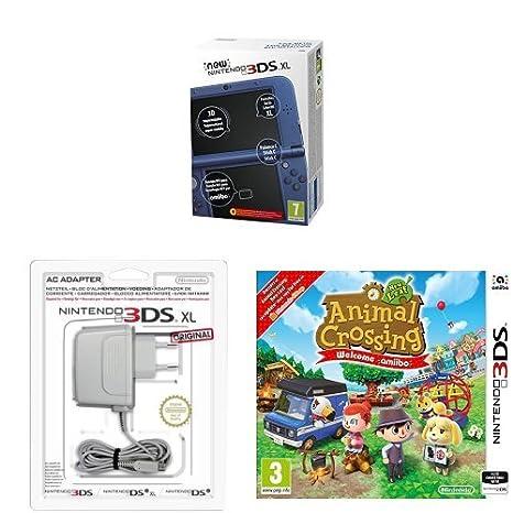 New Nintendo 3DS XL Color Azul Metálico + Adaptador a ...