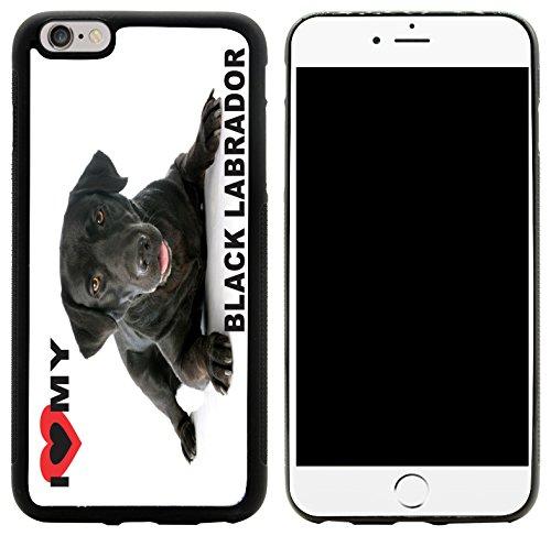 Rikki Knight I Love My Black Labrador Dog Design iPhone 6/6s Plus Hybrid Case Cover, (Knight Hybrid)
