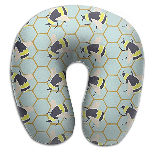 Gkf U Shaped Pillow Neck Bee Travel Multifunctional Pillow Car Airplane]()
