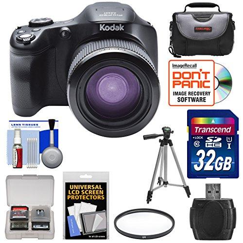 Kodak PixPro AZ651 Astro Zoom Wi-Fi Digital Camera with 32GB Card + Case + Tripod + Filter + Kit (Kodak Digital Camera Tripod)