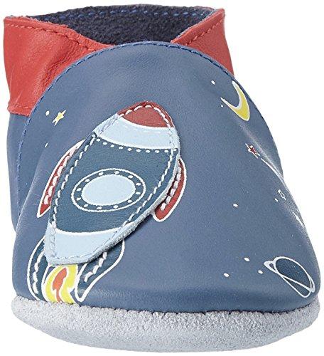 Robeez Baby Jungen Sweet Rocket Krabbel-& Hausschuhe Blau (Bleu Denim)