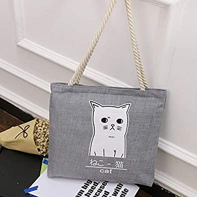 cbc978e305 Image Unavailable. Image not available for. Color: Canvas Environmental  Protection Shopping Bag Fashion Women's Handbags Tote Bag Casual Shoulder  Bags cute ...