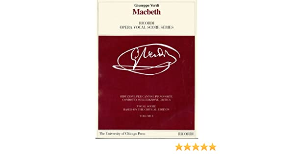 MACBETH VOCAL SCORE PAPER    ITALIAN