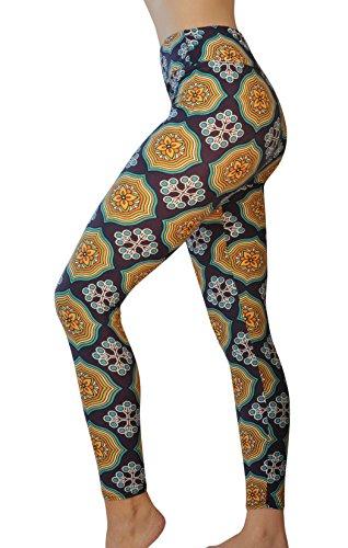 桃不適切な準備するComfy Yoga パンツ – ボヘミアンプリントのハイウエストヨガレギンス – 超ソフト – ドライフィット。