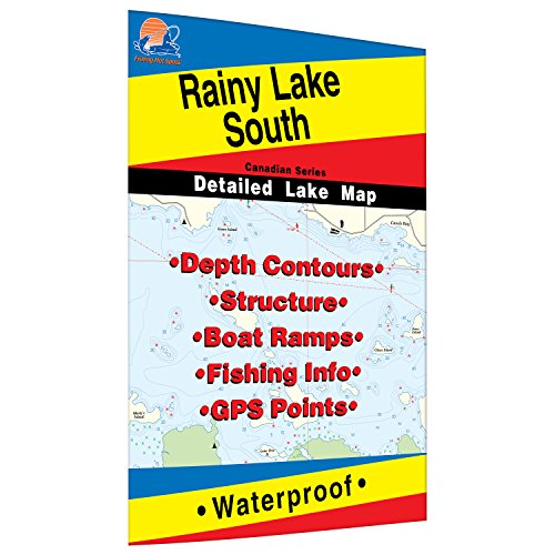 Rainy - South Fishing Map, Lake (includes Black Bay Fishing Map, Big Island Fishing Map, Swell Bay and Seine Bay - ONT/MN) by Fishing Hot Spots