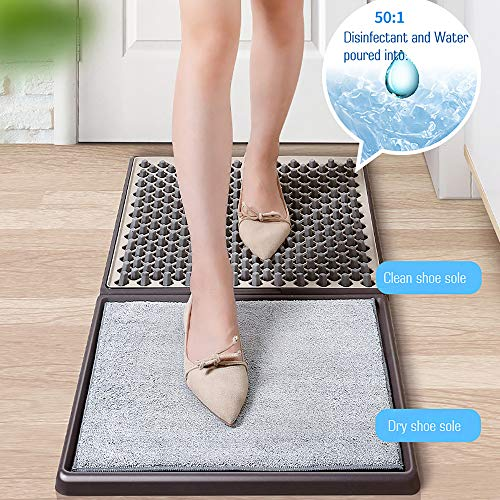 SANI-MAT Disinfecting Floor mat, Sanitizing Shoes Mat for Floor, Cleaning Disinfectant Rubber Shoe Boot Mat for Shoes…