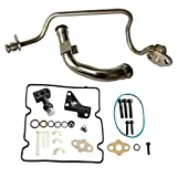 yjracing Updated Turbo Feed & Drain Line Tube w/Fitting Update Kit Fit for 2003-2007 Ford 6.0L Powerstroke Diesel F250 F350