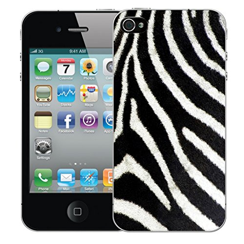 Mobile Case Mate iPhone 4s Silicone Coque couverture case cover Pare-chocs + STYLET - Animal Print pattern (SILICON)