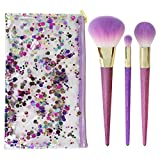 Real Techniques Limited Edition Brush Crush, Shimmer Set - Makeup Brush Set With Three Brushes and Travel Bag, For Application of Powder Blushes, Highlighter and Eye Shadow