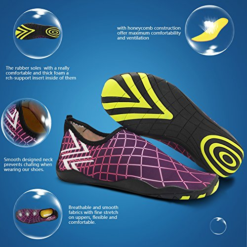 CIOR Männer Frauen Kinder Barfuß Quick-Dry Wasser Sport Aqua Schuhe mit 14 Drainage Löcher für Schwimmen, Wandern, Yoga, See, Strand, Garten, Park, Fahren, Bootfahren Xw