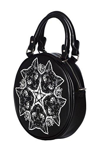 Abbigliamento Nera Della Gattino Vietato Pentagramma Esotericat Spalla Rotonda Borsa E RgwqFROrx