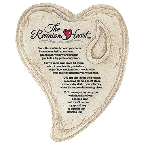 Dicksons Garden Stone Look Heart Wall Plaque - The Reunion Heart ()