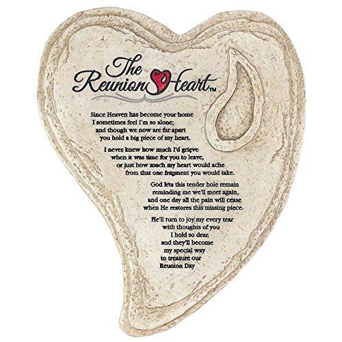 Memorial Wall Plaque - Garden Stone Look Heart Wall Plaque - The Reunion Heart