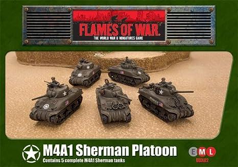 BATTLEFRONT MINIATURES FLAMES OF WAR BRITISH SHERMAN ARMOURED TROOP BBX60
