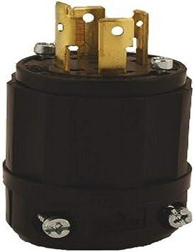 125//250 Volt Locking Plug 3P Leviton 2711 30 Amp 4W NEMA L14-30P