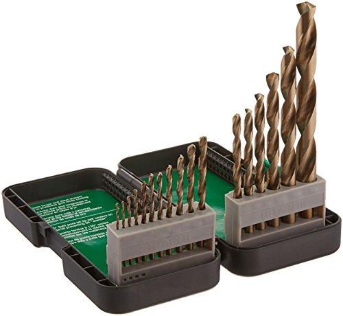 Hitachi 115136 17 Piece Set Gold Oxide Twist Drill