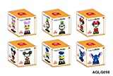 micro blocks - 6 SET - Disney Characters Building Block Toy (Mickey Minnie Daisy Goofy Donald Stitch)