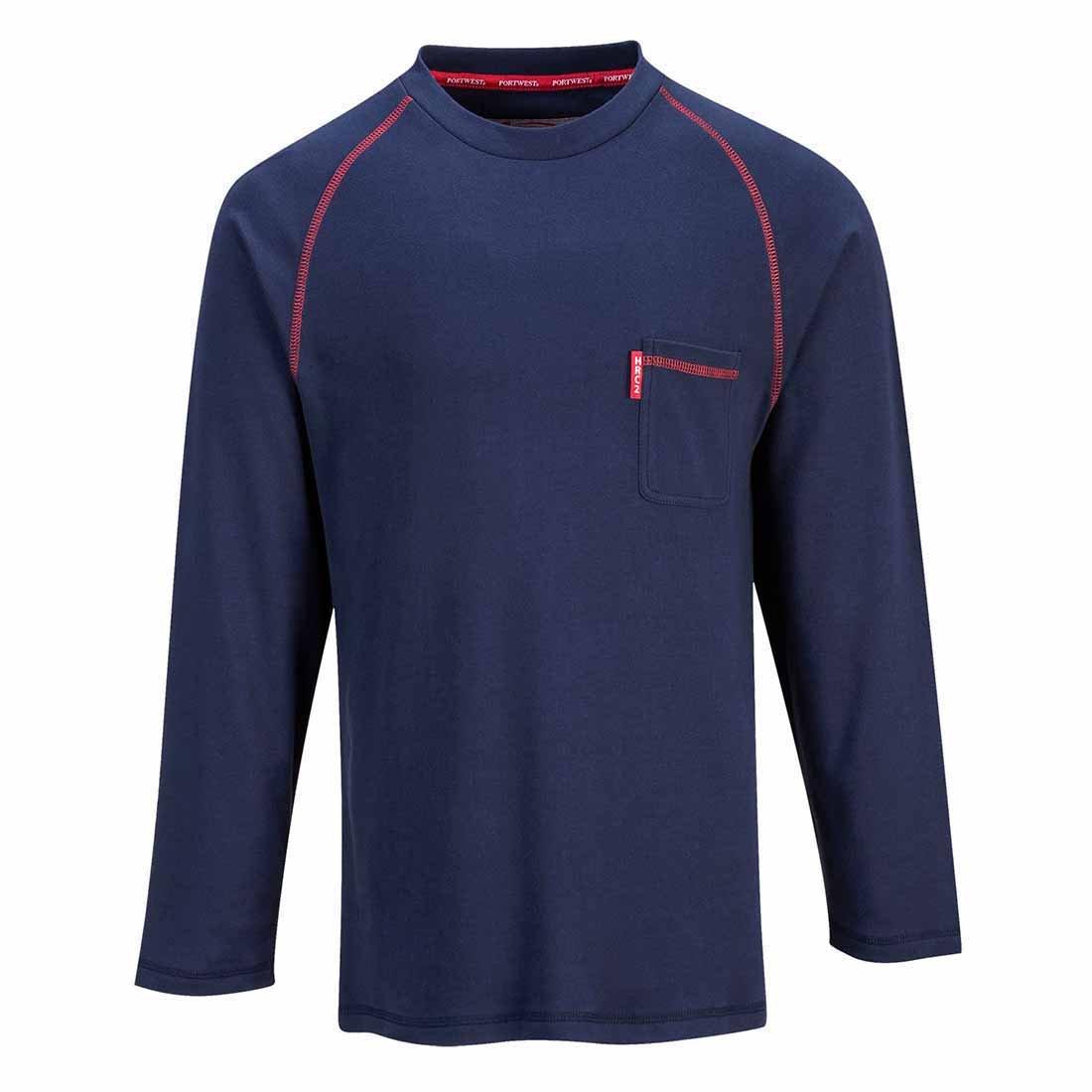 Regular Size: 3X-Large Grey Portwest FR01GRRXXXL BizFlame Flame Resistant Crew Neck Shirt