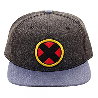 54a30bc82d4 Image Unavailable. Image not available for. Color  Bioworld Marvel Comics X-Men  Logo Wolverine Cationic Snapback