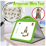 Description:  This moth trap uses mixed pheromone that works well for food moths and cloth moth.  WARMER TIPS:  - Can be hung or set anywhere  - Strongest natural moth pheromone attractant available  - Odor free, non-toxic, pesticide ...