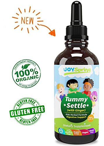Upset Stomach Relief for Kids – Tummy Settle - Organic Gas Relief Drops with Ginger for Diarrhea, Gas, Cramping – Gluten-Free Tummy Drops to Gently Relieve Tummy Aches in Kids