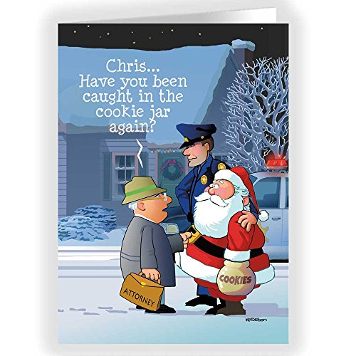 (Funny Christmas Card - Santa Caught in the Cookie Jar (36))