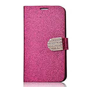 Seaplays Luxury PU Leather Wallet Type Magnet Design Flip Case Cover for Samsung galaxy Note 3 N9000 Magenta