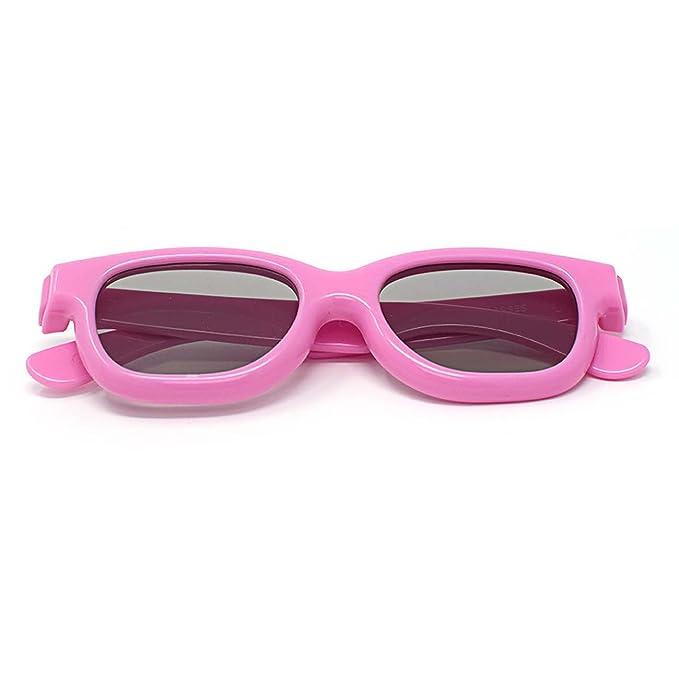 1 Amarillo 1 Rosa 1 Rojo Gafas 3D Pasivo para Niños para Uso con ...