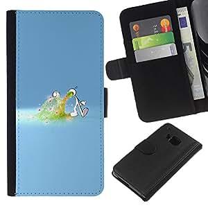 KLONGSHOP // Tirón de la caja Cartera de cuero con ranuras para tarjetas - Amor desbordamiento - HTC One M7 //
