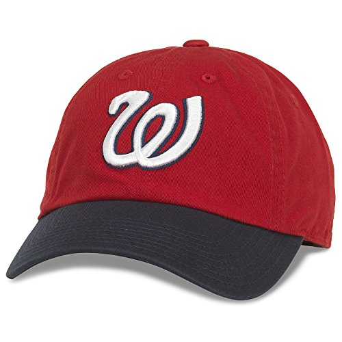 Washington Senators MLB American Needle Bleacher Seat Two Tone Adjustable Twill Cap - Red/Navy