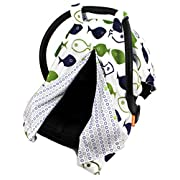 Dear Baby Gear Deluxe Reversible Car Seat Canopy, Custom Minky Print, Fish and Bubbles