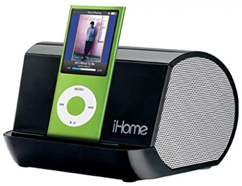 iHome iHM9 Portable Stereo System for iPod, iPhone, and MP3 Players (Black) - Iphone Dock Stereo