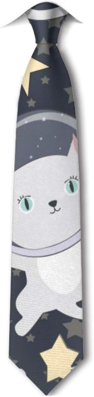 Xukmefat Fun Cat Astronaut Corbata para hombre Hipster Corbatas ...
