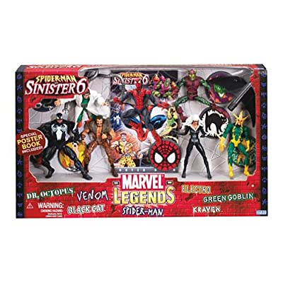 Marvel Legends Action Figure Boxed Set SpiderMan vs. The Sinister Six: Toys & Games