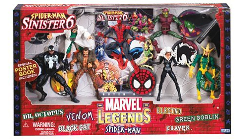 Marvel Legends Action Figure Boxed Set SpiderMan vs. The Sinister Six ()