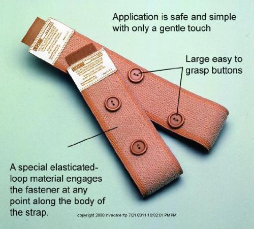 (Fitz-All? with Buttons Fabric Leg Bag Straps - UOM = Each 1 by Urocare Products Inc.)