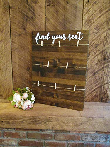Boyce22Par Find Your Seat Rustic Wood Wedding Sign Wooden Sign Wedding Seating Chart Seat Yourself Reception Seating Sign Seating Cards -