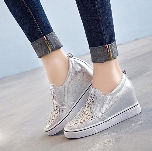 los zapatos del elevador Ms Spring mollete pendiente con zapatos de diamante, zapatos casuales zapatos perezosos , US6.5-7 / EU37 / UK4.5-5 / CN37